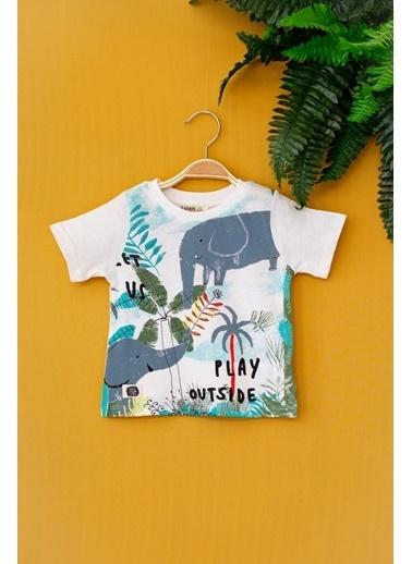 Cigit Elephant T-shirt Ekru